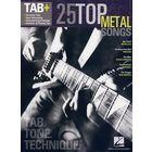 Hal Leonard Tab+25 Top Metal Songs