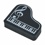 A-Gift-Republic Eraser Piano G-Clef Black