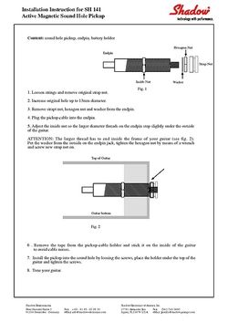 Mounting Instructions