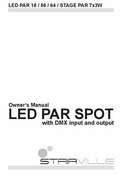 Manual LED PAR