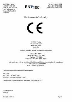 CE Declaration of Conformity