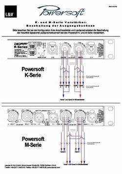 Speakon Beschaltungsplan Powersoft K&M Serien