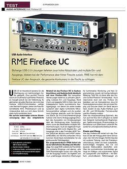 KEYS RME Fireface UC