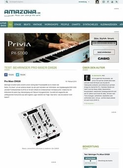 Amazona.de Test: Behringer Pro Mixer DX626