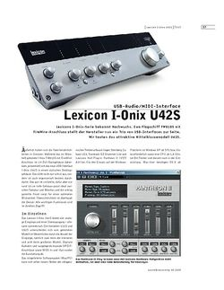 Sound & Recording Lexicon I-Onix U42S