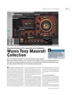 Sound & Recording Waves Tony Maserati Collection