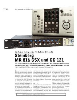 Sound & Recording Steinberg MR 816 CSX und CC 121