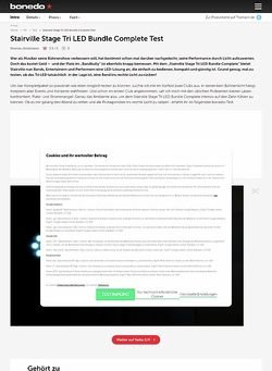 Bonedo.de STAIRVILLE STAGE TRI LED BUNDLE COMPLETE