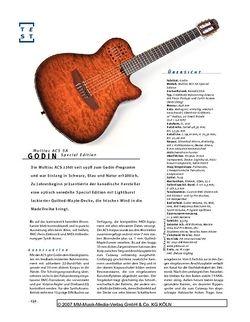 Gitarre & Bass Godin Multiac ACS SA Special Edition, Nylonstring-E-&-MIDI-Gitarre