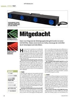 Tastenwelt Test: Eurolite LED MAT-Bar 4x64 RGB DMX - Mitgedacht