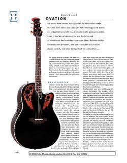 Gitarre & Bass Ovation Elite 2078 LX E/A-Gitarre