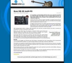 MusicRadar.com Boss ME-25 multi-FX