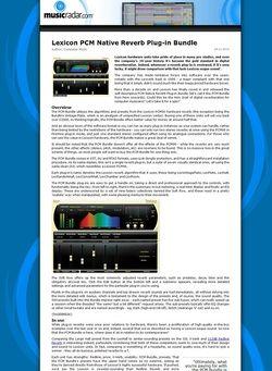 MusicRadar.com Lexicon PCM Native Reverb Plug-in Bundle