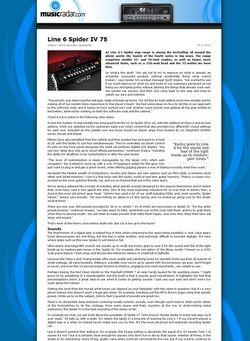 MusicRadar.com Line 6 Spider IV 75