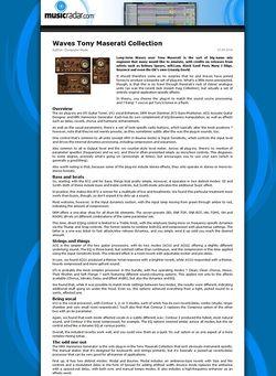MusicRadar.com Waves Tony Maserati Collection