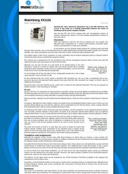 MusicRadar.com Steinberg CC121