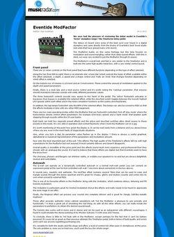 MusicRadar.com Eventide ModFactor