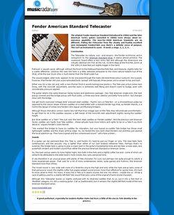 MusicRadar.com Fender American Standard Telecaster