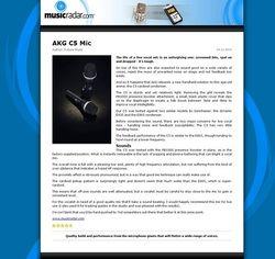 MusicRadar.com AKG C5 Mic