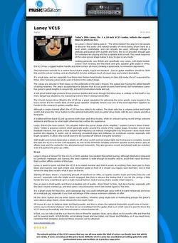 MusicRadar.com Laney VC15