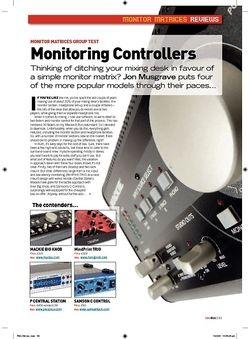 Future Music Monitoring Controllers  Mackie Big Knob