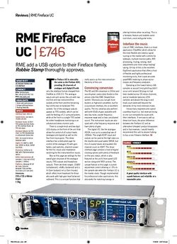 Future Music RME Fireface UC