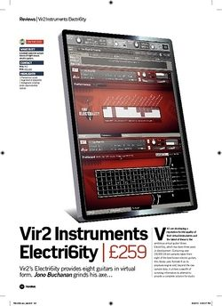 Future Music Vir2 Instruments Electri6ity