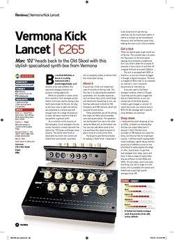 Future Music Vermona Kick Lancet