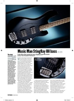Guitarist Music Man StingRay HH Bass