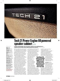 Guitarist Tech 21 Power Engine 60 Powered Speaker Cabinet