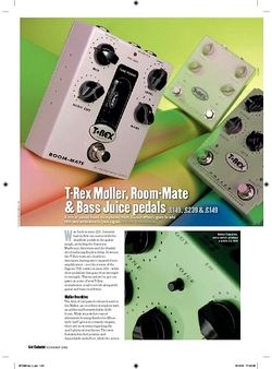 Guitarist TRex Bass Juice Pedal