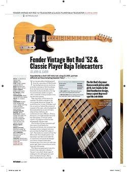 Guitarist Fender Vintage Classic Player Baja Telecaster