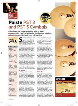 Rhythm Paiste PST 3 and PST 5 Cymbals
