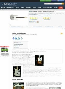 Audiofanzine.com Fender New American Standard Telecaster