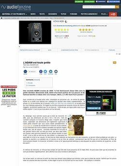 Audiofanzine.com ADAM A3X