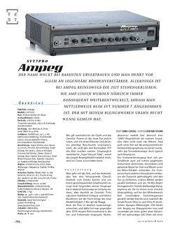 Gitarre & Bass Ampeg SVT7-Pro, Bass-Top