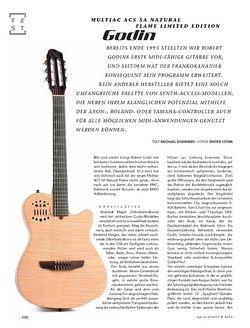 Gitarre & Bass Godin Multiac ACS SA Natural Flame Ltd.