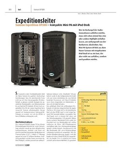 Keyboards Samson Expedition XP308i - kompakte Mini-PA mit iPod-Dock