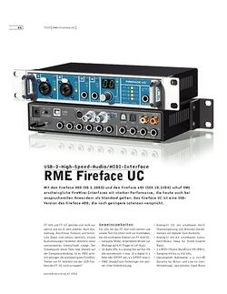 Sound & Recording RME Fireface UC
