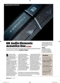 Guitarist HK Audio Elements Acoustics One