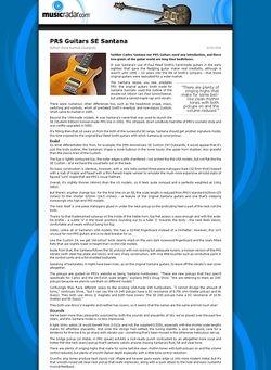 MusicRadar.com PRS Guitars SE Santana