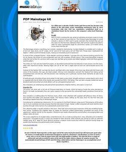 MusicRadar.com PDP Mainstage kit