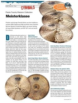 DrumHeads Instrumente & Technik - Test: Paiste Twenty Masters Collection