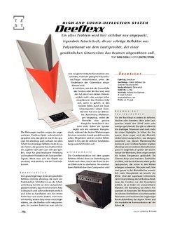 Gitarre & Bass Deeflexx High-end sound-deflection system