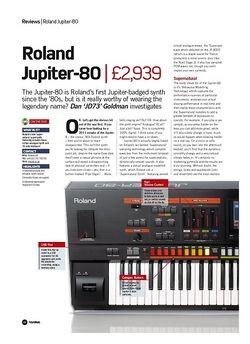 Future Music Roland Jupiter-80