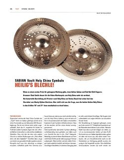 Sticks Sabian Vault Holy China Cymbals