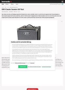 Bonedo.de EBS Classic Session 60