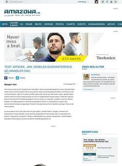 Amazona.de Test: Apogee, Jam, Mobiles Audiointerface/AD-Wandler