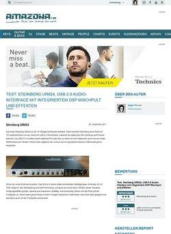 Amazona.de Test: Steinberg UR824, USB 2.0 Audio-Interface mit integriertem DSP Mischpult und Effekten