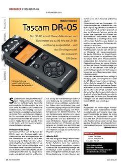 KEYS Tascam DR-05